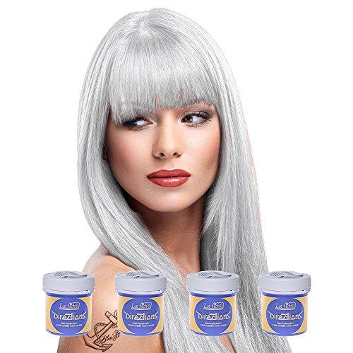 La Riche Directions Semi Permanent White Hair Colour Dye x 4