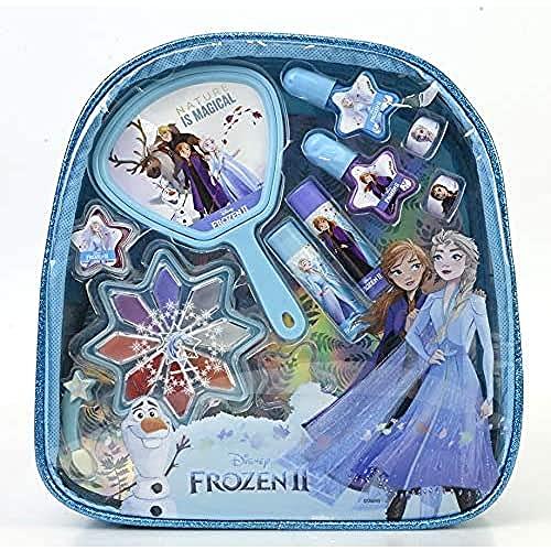 Markwins Disney Frozen Beauty On The Go Bag - Set Trucchi Per Bambine - Zainetto Bambina Con Specchio - Kit Trucchi Frozen E Accessori Colorati - Giochi Frozen E Regali Per Bambini - 320 G