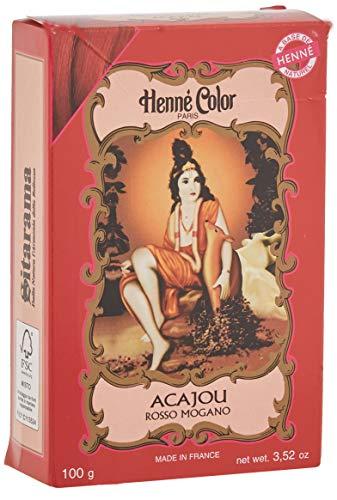 Sitarama Polvere Henne Color: Acajou Rosso Mogano - 100 gr