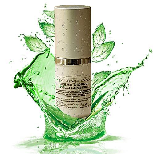 Crema viso olio di oliva pelli sensibili | Crema giorno idratante viso pelle secca | Contorno occhi con aloe vera | Collo e decollete con acido salicilico | Tonico gel omaggio 100% MADE IN ITALY