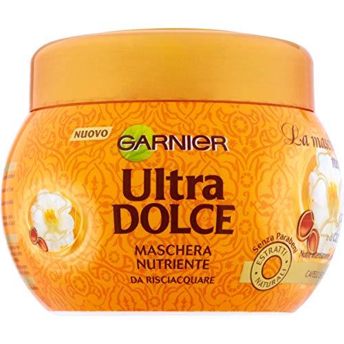 Garnier Maschera Ultra Dolce Meraviglioso, Formula Nutriente con Olio di Argan e Camelia, 300 ml