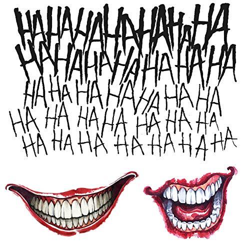 dc comics Suicide Squad Joker Costume Tattoo Kit Adult One Size