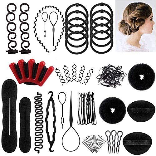 OBSCYON 27 Tipi Set di Acconciature Hair Styling Accessori Tool,per Capelli Donne Ragazze DIY