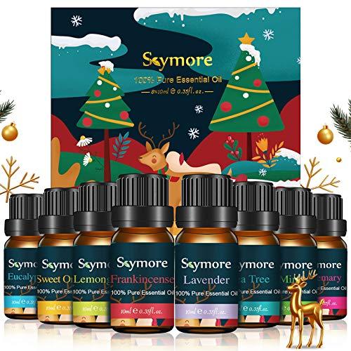 Skymore Top 8 Set di Olio Essenziale,può Usare nel Diffusore, Puri al 100% -Menta Piperita, Tea Tree,Citronella, Lavanda, Eucalipto,Arancia dolc,Rosmarino,Incenso