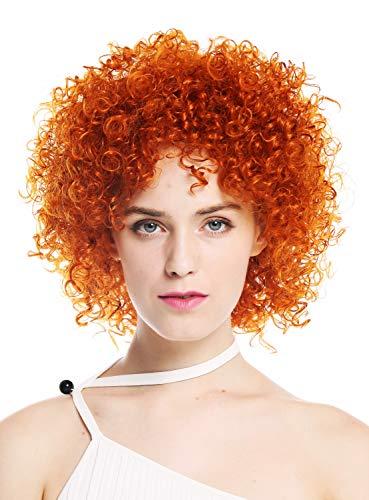 WIG ME UP - VK-11-T2735 Parrucca donna Corta Voluminosa Ricci crespi Rosso aranciato Arancione