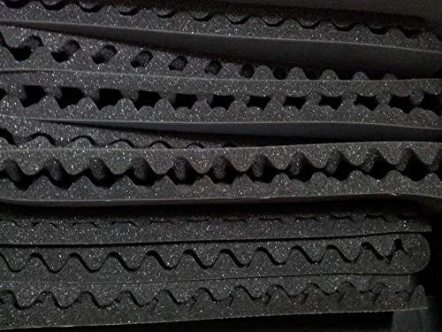 Spugna fonoassorbente antirisonante bugnato piramidale tondo H=25mm 50x100cm adesivo