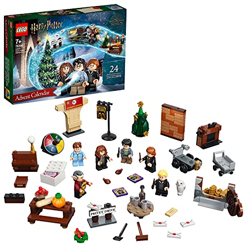 LEGO Harry Potter Calendario dell'Avvento 2021, e Gioco da Tavolo per Bambini dai 7 Anni con 6 LEGO Minifigures, 76390