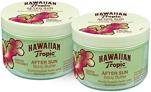 Hawaiian Tropic - AfterSun Burro esotico al cocco per il corpo - Crema doposole per il corpo al profumo di cocco fresco, formato da 200 ml - Confezione da 2 unità