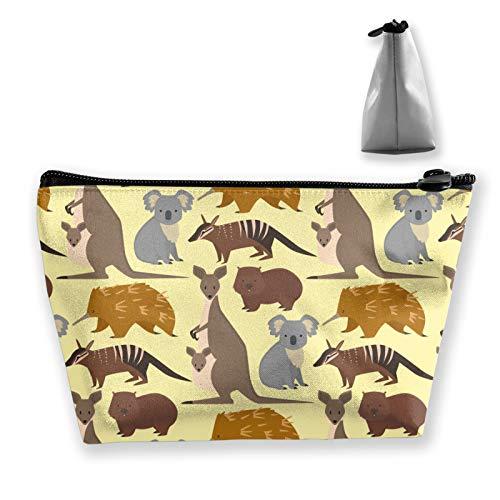 Australia Wild Animals Cartoon Travel Toiletry Bag Organizer per trucco cosmetico per donne e ragazze