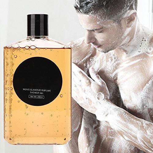 240 ml Glamour Profumato Gel doccia Uomo Lavaggio profondo Profumo Lavaggio del corpo Delicato e idratante per il lavaggio del corpo idratante per la pelle estremamente morbida per uomo