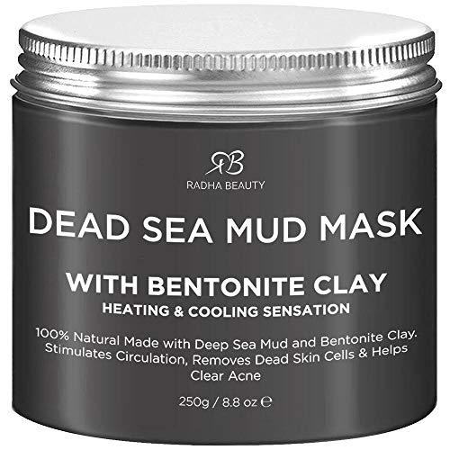 Maschera di fango del Mar Morto con argilla bentonitica per viso e corpo con formula naturale per il trattamento di acne, pori, punti neri e pelle grassa Fango del Mar Morto 8.8 Ounce
