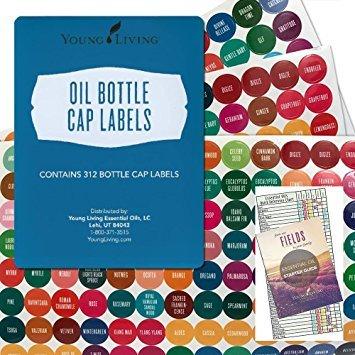 Etichette per tappi per bottiglia da 5ml e 15ml per olio essenziale di vita giovane - 1 nuovo set completo, 312 etichette per tappi di bottiglia di Young Living