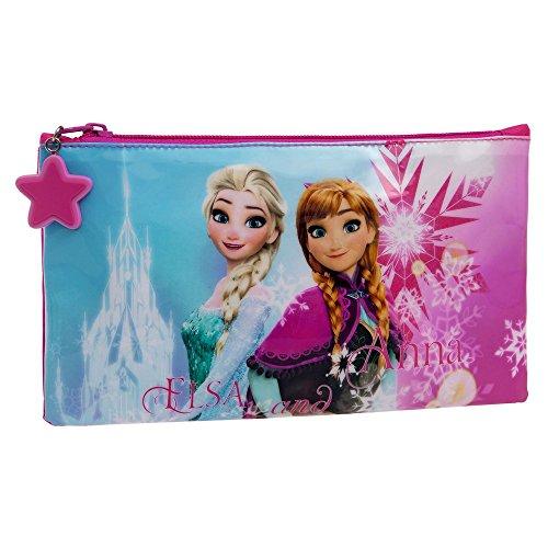 4594051 Frozen Ice Beauty Case da Viaggio, Poliestere, Rosa, 21 cm