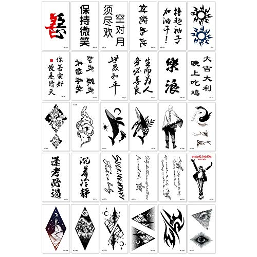 Autoadesivi del tatuaggio del carattere cinese - autoadesivi impermeabili del tatuaggio del cinese/autoadesivi del tatuaggio personalizzati inglese