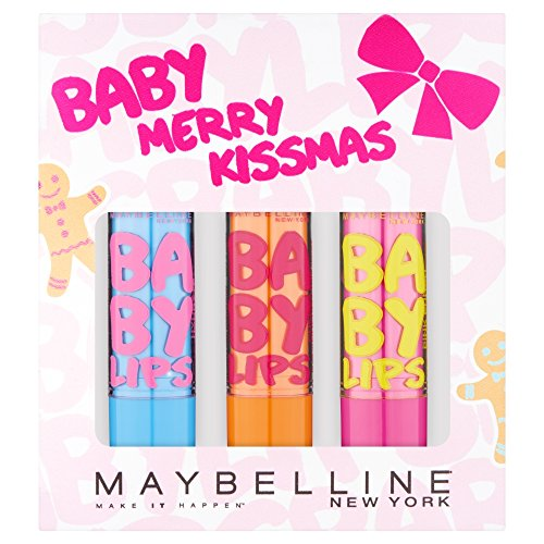 Maybelline Baby Merry Kissmas Set Lip Balms Hydrate, Cherry Me and Pink Punch