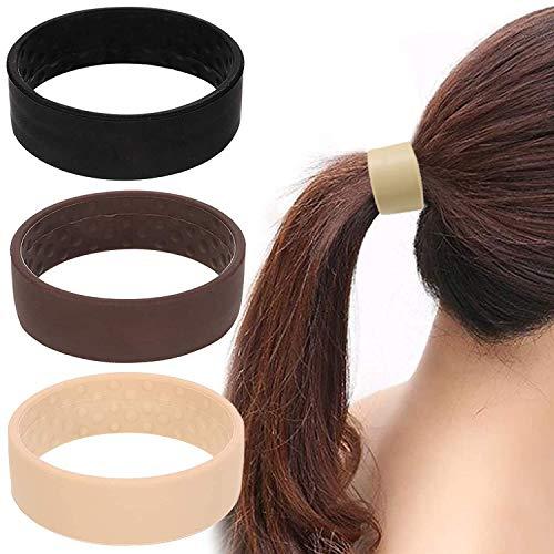 Fasce per Capelli Elastica, Fasce elastiche per capelli in silicone, Cerchietti per coda di cavallo, Elastico pieghevole per coda di cavallo