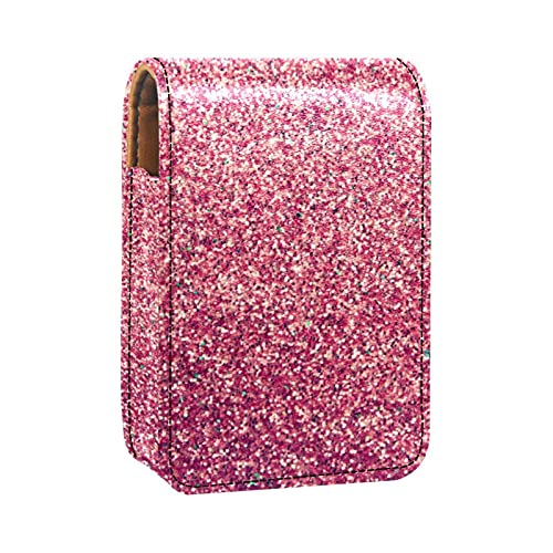Porta rossetto Mini porta rossetto Sfondo rosso brillante Borsa organizer con specchio per borsetta porta cosmetici da viaggio