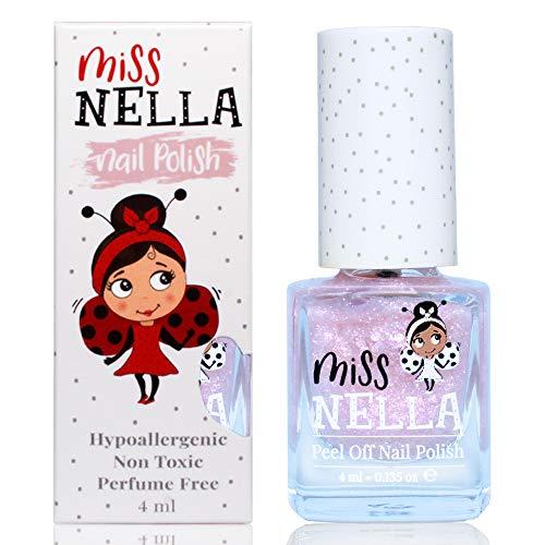 Miss Nella ABRACADABRA- ROSA/ORO Smalto speciale con brillantini per bambini, con formula peel-off, a base d'acqua e senza odori
