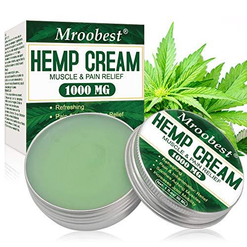 Hemp Cream, Hemp Balm, Crema di Canapa, Balsamo Antidolorifico Alla Canapa, Cream per massaggi per tensione articolare e muscolare, lenisce piedi, ginocchi, collo, schiena, spalle - 30 ML