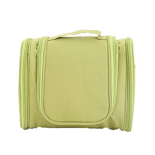 AKAAYUKO 1PCS Beauty Case da Viaggio Borsetta Viaggio con Gancio e Maniglia Verde