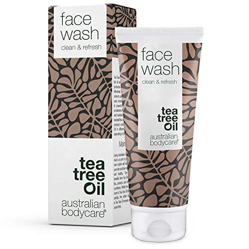 Australian Bodycare Face Wash 100 ml – Detergente per il viso contro punti neri, brufoli e pelle acneica – Con Tea Tree Oil australiano naturale puro al 100% - Ottimo per pelli grasse