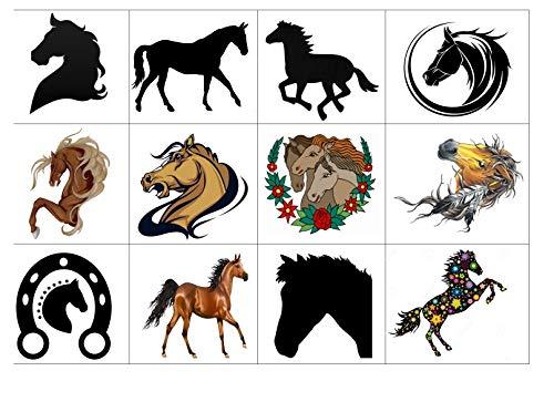 animale Collezione di tatuaggi temporanei Temporary Tattoos collection (Tatuaggio Di Cavallo Horse Tattoo)
