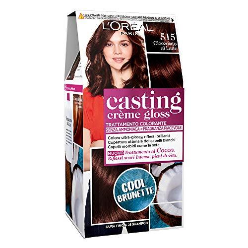 L'Oréal Paris Tinta Capelli Casting Creme Gloss, senza Ammoniaca per una Fragranza Piacevole, 515 Marron Chocolat, Confezione da 1