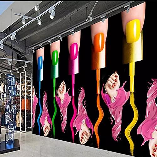 rylryl Nail art manicure smalto per unghie braccio negozio di cosmetici negozio di utensili da parete fabbrica all'ingrosso carta da parati murale foto personalizzata parete-250X175CM