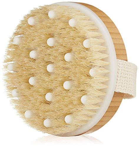 Spazzola per il corpo del bagno Setole naturali con massaggio Noduli Ridurre le tossine contro la cellulite