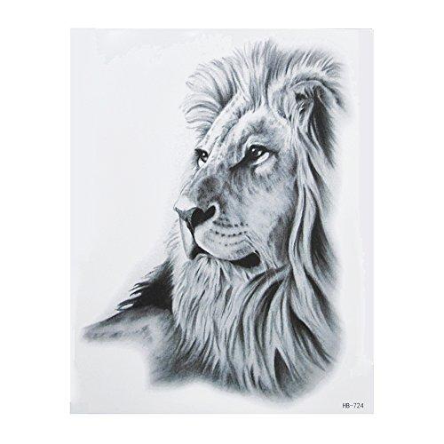 Beyond, tatuaggio finto, motivo: leone, nero, HB724