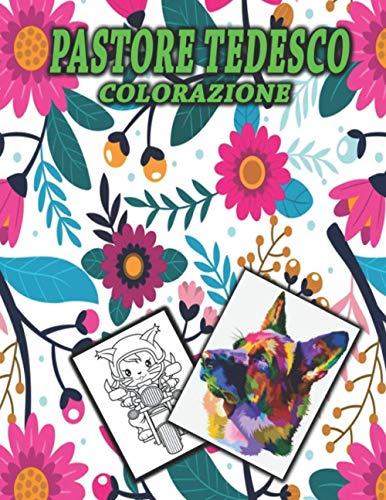 Pastore Tedesco Colorazione: Un simpatico libro da colorare per pastore tedesco con gatto sexy, i migliori animali divertenti
