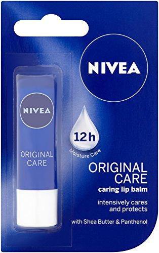 Balsamo labbra nutriente originale Nivea Care, 4,8 g, confezione da 12 (etichetta in lingua italiana non garantita)