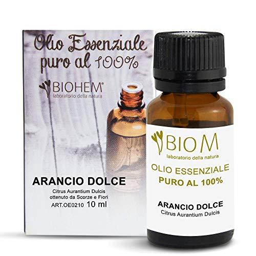 Biomintegra Arancio Dolce | Olio Essenziale per Diffusori e ottimo Olio Corpo, Olio per Massaggi Rilassanti, Olio Essenziale per Asciugatrice e Aromaterapia. Made in Italy - 10ml - 100% PURO