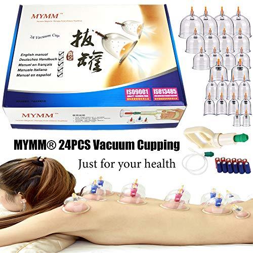 24*coppettazione, cromatura biomagnetica tradizionale cinese terapia set di coppettazione casa estrarre kit di cottura a vuoto /massaggio cinese set di coppettazione medica Agopuntura di aspirazione
