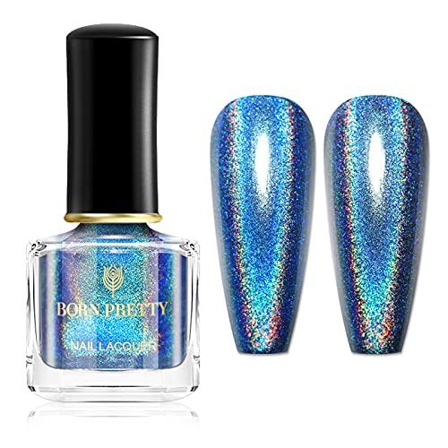 Born Pretty 6ml Holographic Shining Glitter Super Shine Nail Art Polish (Blaue Liebe)