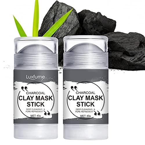 GUOL Stick Maschera alla Curcuma, Maschera Stick Purificante Allargilla, Pori Puliti in profondità, Stick Maschera Viso Naturale Migliora per Tutti I Tipi di Pelle Carbone di bambù