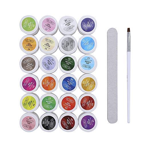 Gel colorati UV, 5ml 30 Colori Moda Donna Fototerapia Colla per unghie Lampada UV/Led Kit di strumenti per smalto gel per unghie