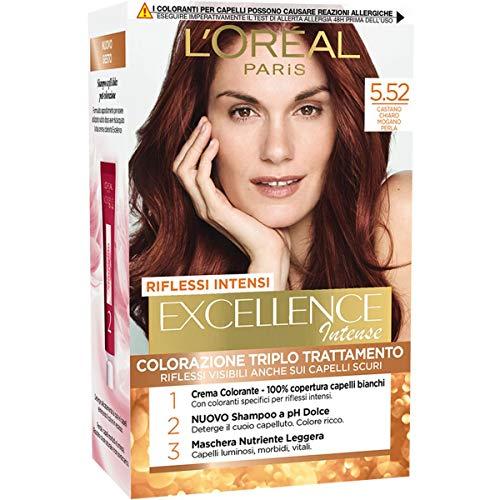 L'Oréal Paris Tinta Capelli Excellence Intense, Castano Chiaro Mogano Perla 5.52