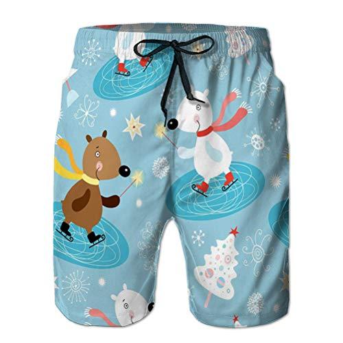 vbndfghjd Youth Boys 'Shorts Summer Beach Shorts Pantaloni Casual Texture Orsetti Invernali Geometrici M