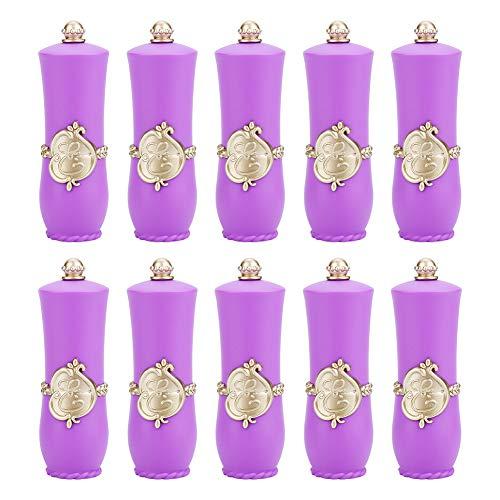 2 colori vuoto rossetto contenitore rossetto stampo con (10 Opp tubo palazzo viola borse) per avvolgere alla moda e squisiti rossetti fatti in casa