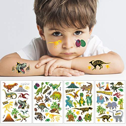 Jiahuade Tatuaggi per Bambini Dinosauri,Dinosauro Tatuaggi,Tatuaggi Finti Bambina,Tatuaggi Temporanei per Bambini,Adesivi Dinosauri Bambini,Adesivi Dinosauri Cameretta