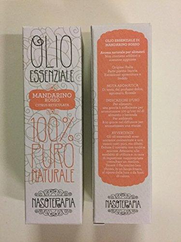 Nasoterapia Olio Essenziale Mandarino Rosso 100% puro