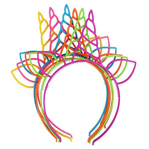 TOYMYTOY Fasce Unicorno Ragazze Belle Testa Cerchi Capelli Fascia per Feste Decorazione di Festival per Bambini, 18 Pezzi (6 Colori)