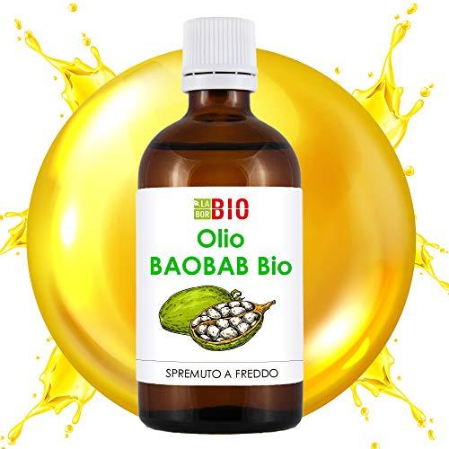 Olio di Baobab Bio 100% Puro Spremuto a freddo 50 ml - Viso Corpo Capelli - LaborBio
