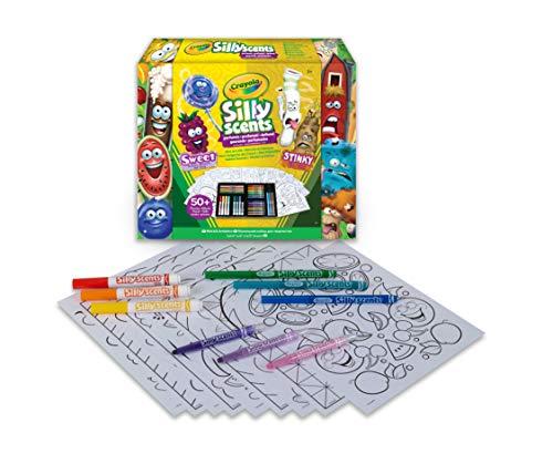 Crayola- Silly Scents, Mini Valigetta dei Colori Profumati, 50+ Pezzi, attività Creativa, Regalo per Bambini, età 3,4,5,6, 04-0015
