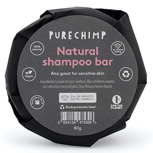 Shampoo Solido Naturale 80g di PureChimp – Schiuma Magica – Nutriente & Idratante - Banana/Vaniglia