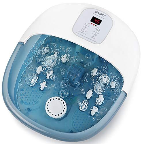 Pediluvio Massaggiatore Piedi Vaschetta Pedicure Elettrico con Bolle Calore Vibrazione Professionale Vaschetta per Pediluvio Bacinella