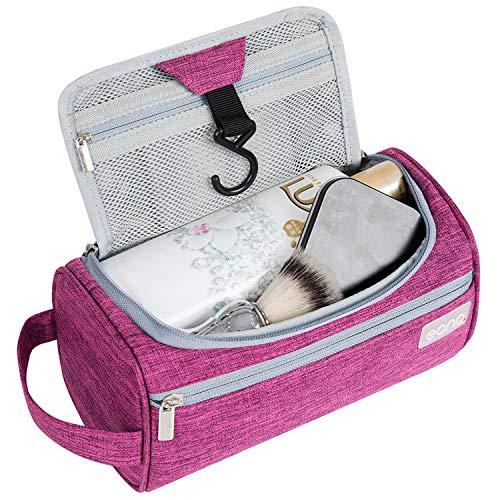 Amazon Brand - Eono Beauty Case Uomo & Donna, Borsa da Toilette Unisex Borsa Cosmetici per Valigie, Borsa da Viaggio per Lavaggio, Wash Bag, Toiletry Bag, Borsa Appendibile da Viaggio - Viola
