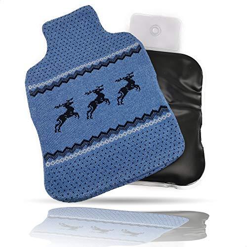 Kerafactum - Cuscino termico in muschio, adatto anche per applicazioni a freddo, ideale per la schiena, cuscino termico al muschio, colore trasparente con fodera in cotone, motivo cervo