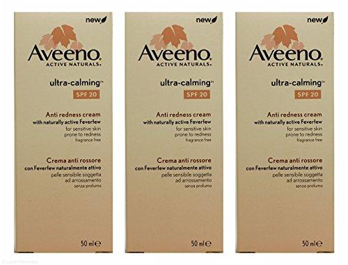 Multibuy 3x Aveeno Ultra-calming Anti Redness Cream SPF20 - 50ml by Aveeno